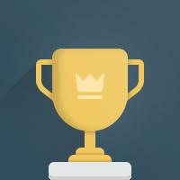 Illustration of a golden trophy cup.